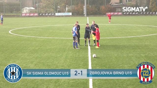 SK Sigma Olomouc U15 - Zbrojovka Brno U1...