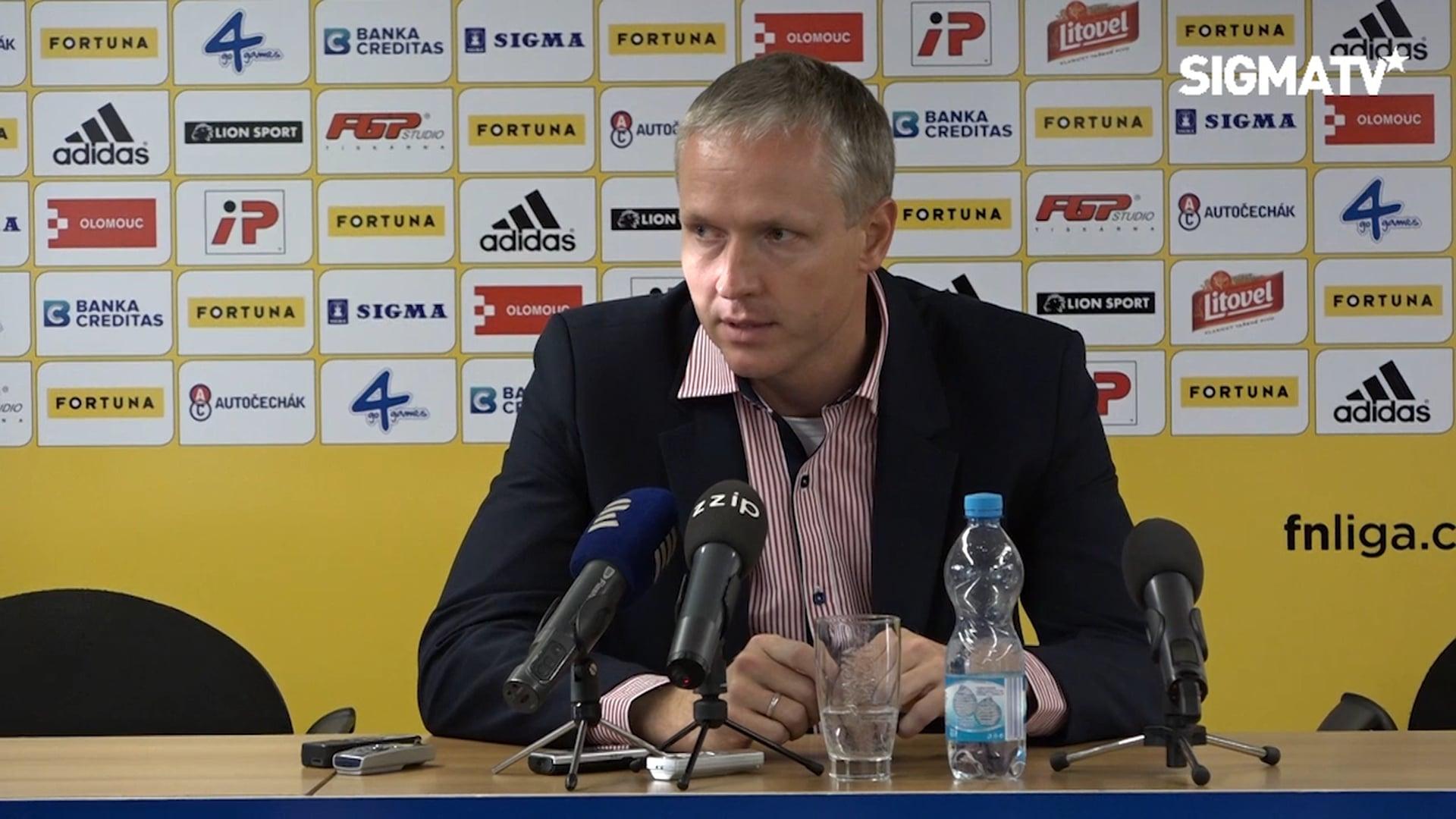 TK s trenéry po utkání SK Sigma Olomouc ...