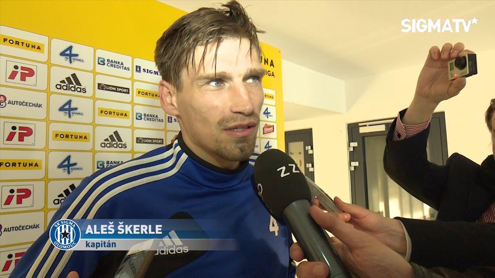 Kapitán Aleš Škerle po utkání s MFK Frýd...