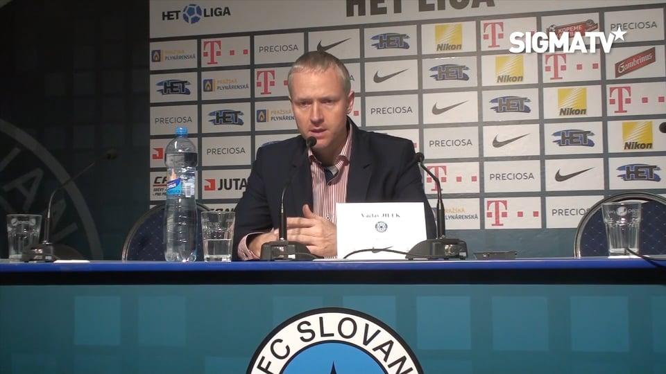 Trenér Václav Jílek hodnotí utkání 16. k...