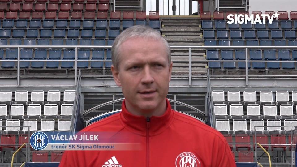 Trenér Václav Jílek, záložníci Tomáš Zah...