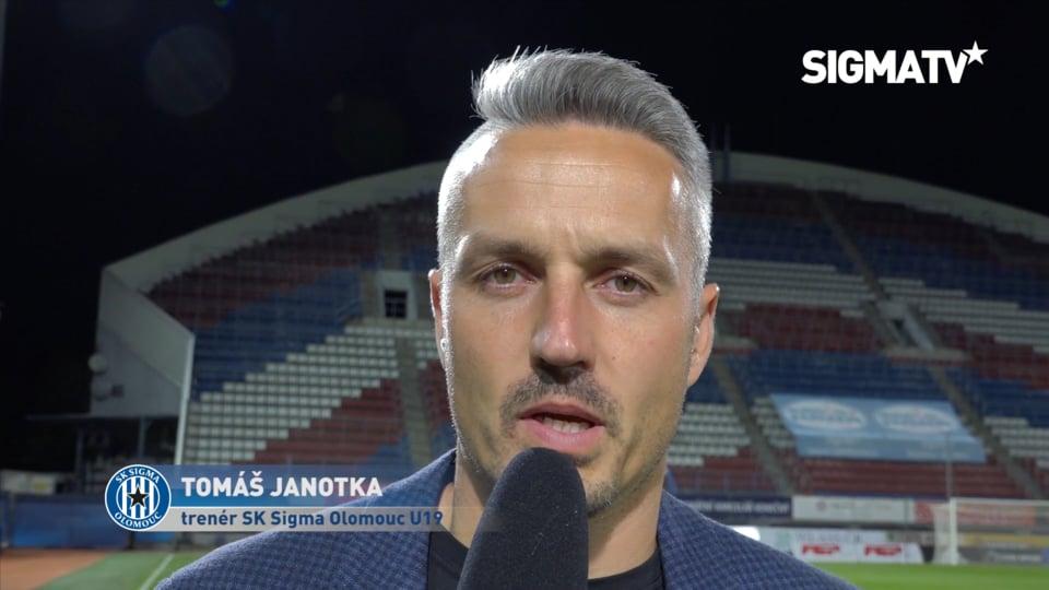 Trenér Tomáš Janotka hodnotí vítězné utk...