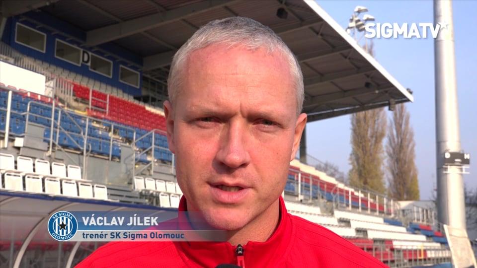 Trenér Václav Jílek před utkáním 4. kola...
