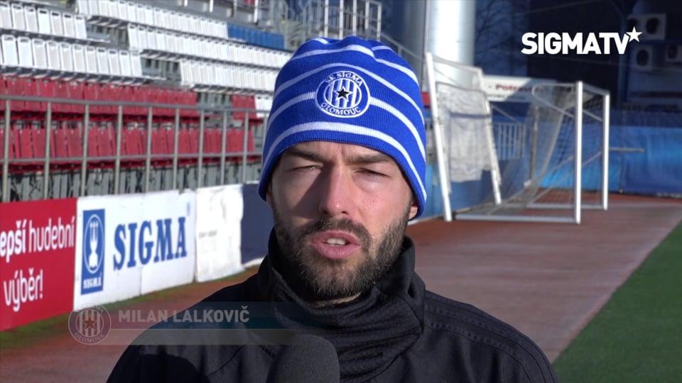 Trenér Václav Jílek a záložník Milan Lal...