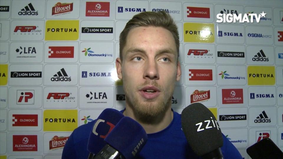 Záložník Lukáš Kalvach hodnotí vítězné u...