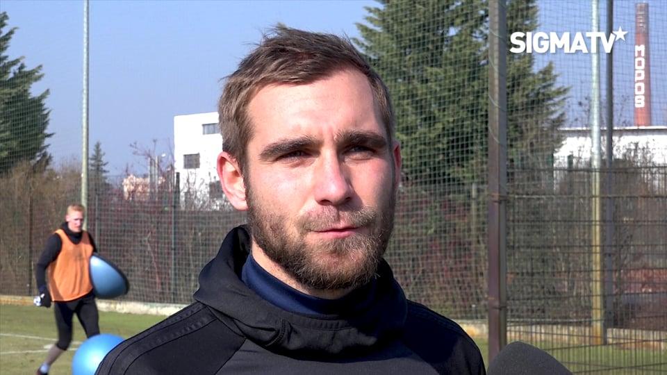 Trenér Václav Jílek a obránce Martin Sla...