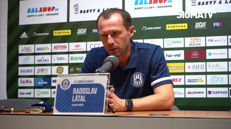 Trenér Radoslav Látal hodnotí utkání 6. ...